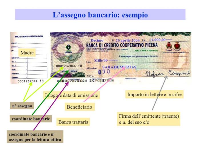 Diversi modi di datare un assegno
